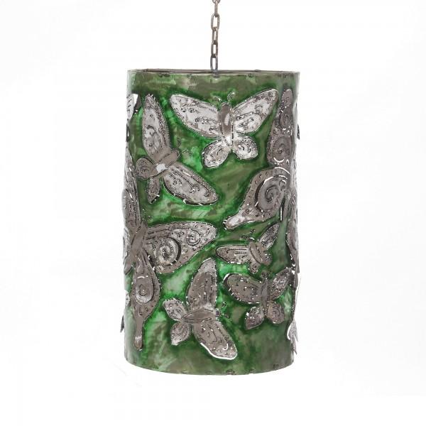 Lampenschirm, grün, Ø 25 cm, H 40 cm