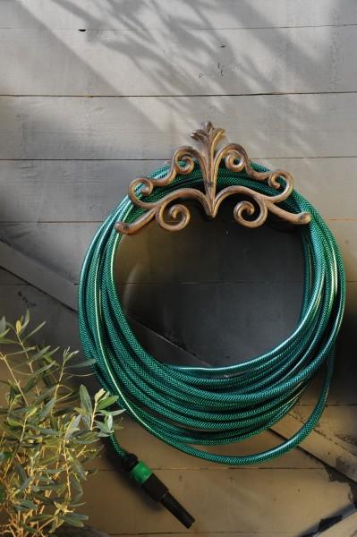 Wasserschlauchhalterung, antik-braun, L 16 cm, B 29 cm, H 20 cm