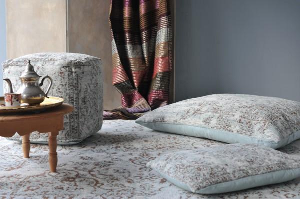 Teppich 'Malik', altblau, T 140 cm, B 200 cm