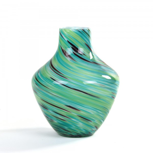 Glasvase bauchig, Ø 18 cm, H 22 cm