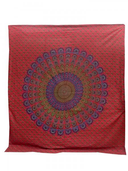 """Tagesdecke """"Rad"""", aus 100% Baumwolle, rot/lila, L 220 cm, B 250 cm"""