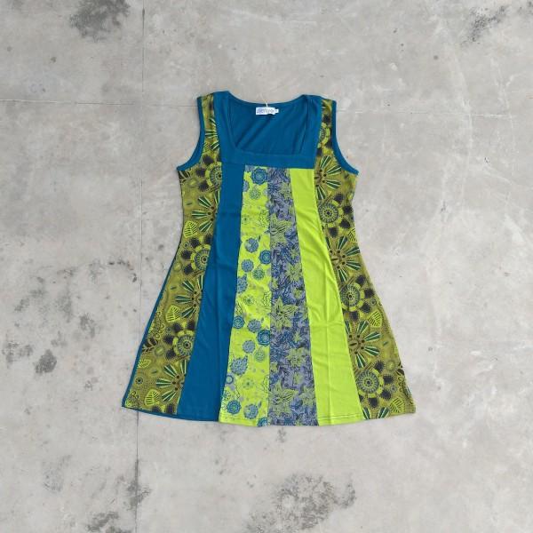 Kleid 'Milva' M, petrol, lemon, oliv