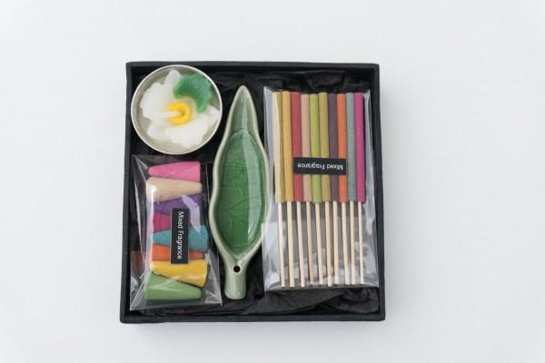 Räucher-Box, multicolor, T 12 cm, B 12 cm, H 2,5 cm