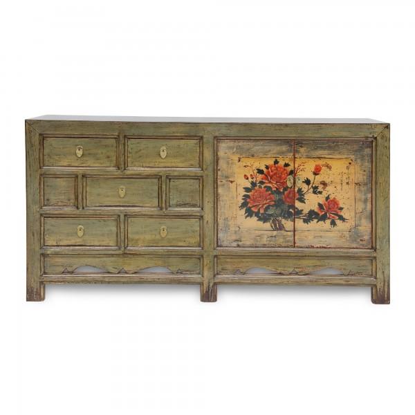 Anrichte, 2 Türen, 5 Schubladen, natur, T 40 cm, B 170 cm, H 85 cm