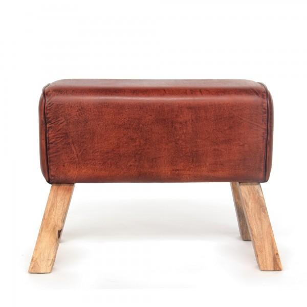 Sitzbock 'James', coganc, natur, T 35 cm, B 61 cm, H 52 cm