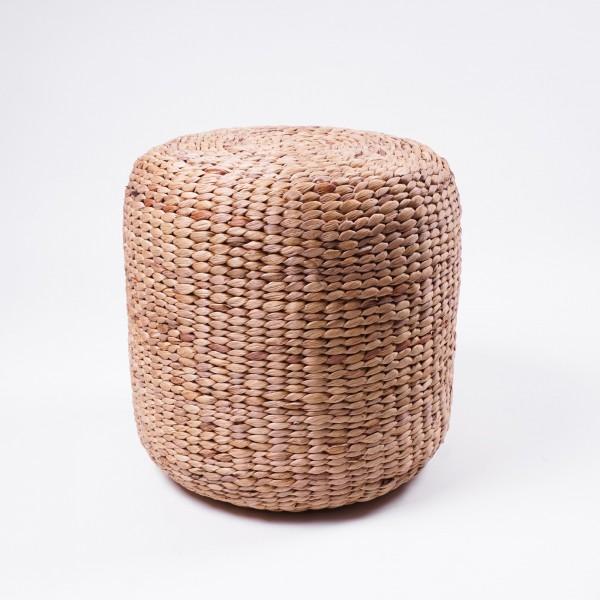Hocker aus Wasserhyazinthe, natur, H 38 cm, Ø 38 cm