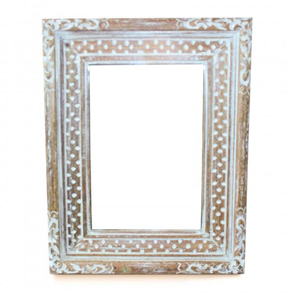 Spiegel rechteckig, natur, L 40 cm, B 50 cm