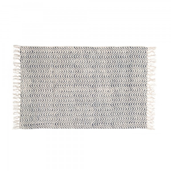 Mini-Rug 'Ambad', schwarz, weiß, T 60 cm, B 90 cm