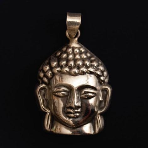 """Anhänger """"Buddhakopf"""", aus echtem 925er Silber"""