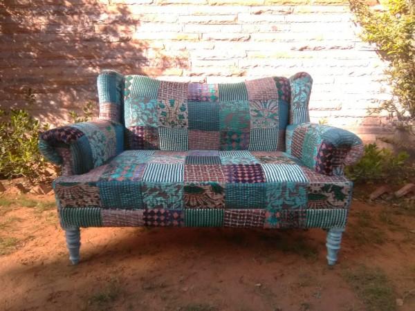 Sofa 'Tilli', 2-Sitzer Patchwork, multicolor, T 75 cm, B 140 cm, H 95 cm