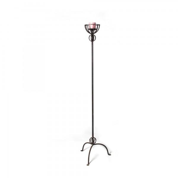 Kerzenständer aus Eisen, Ø 15 cm, H 135 cm