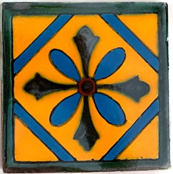 Kachel 'Cruz', multicolor, T 10 cm, B 10 cm, H 0,5 cm