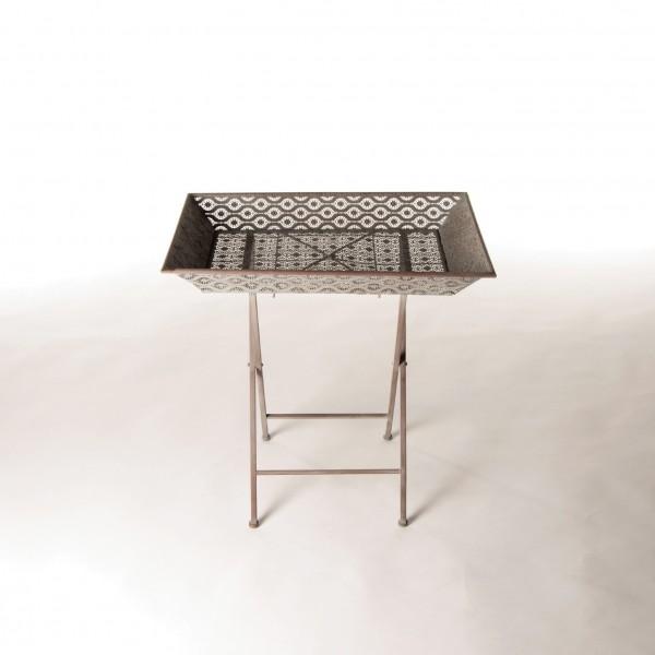 """Beistelltisch """"Luga"""", aus Metall, L 44 cm, B 67 cm, H 67 cm"""