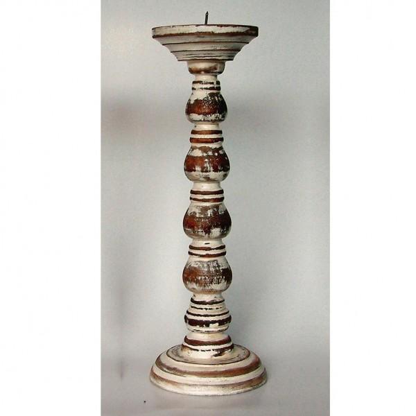 Kerzenhalter gedrechselt, antik-braun, H 39 cm, Ø 11,5 cm