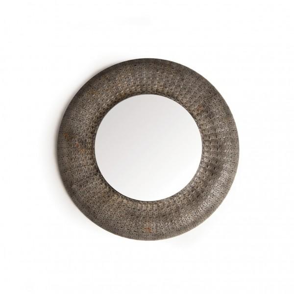"Spiegel ""Grafers"", grau, Ø 90 cm"