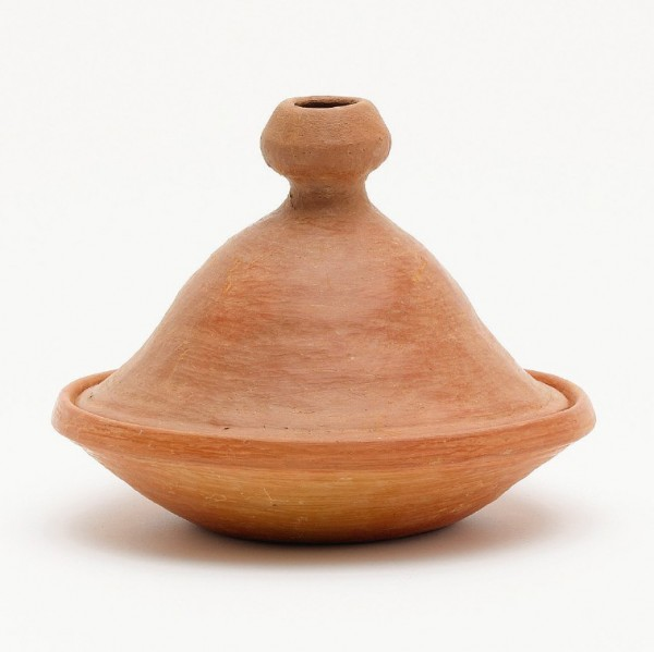 "Tajine ""Tetouan"", erdfarben, unglasiert, H 25 cm, Ø 27 cm"