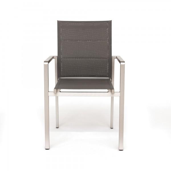 Alu-Stuhl 'Eastfork', aluminium, schwarz, T 56 cm, B 56 cm, H 89 cm
