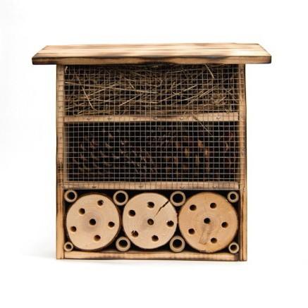 Insekten-Schober aus Fichtenholz und Bambus, B 29 cm, H 29 cm