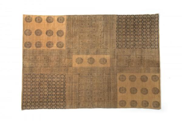 """Teppich """"Dadra"""", handbedruckt, ocker, L 200 cm, B 140 cm"""