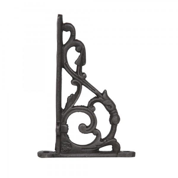 Winkelträger, schwarz, T 10 cm, B 16 cm, H 2 cm