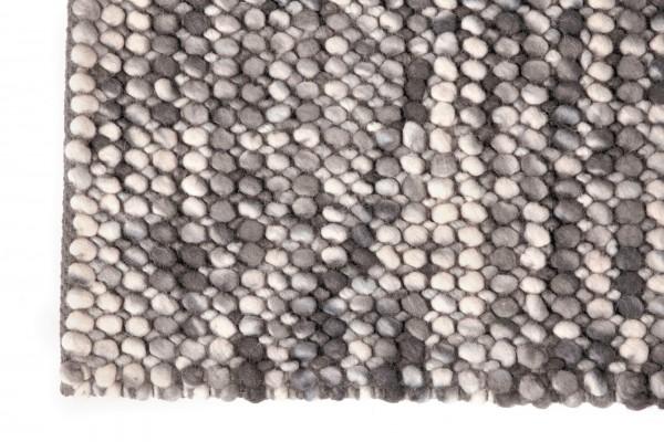 Teppich 'Ciya', grau, weiß, T 140 cm, B 200 cm