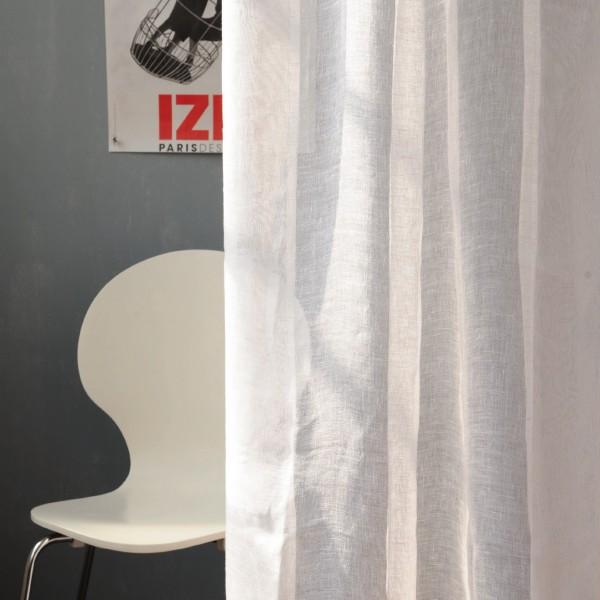 Baumwoll-Vorhang, weiß, B 105 cm, H 245 cm