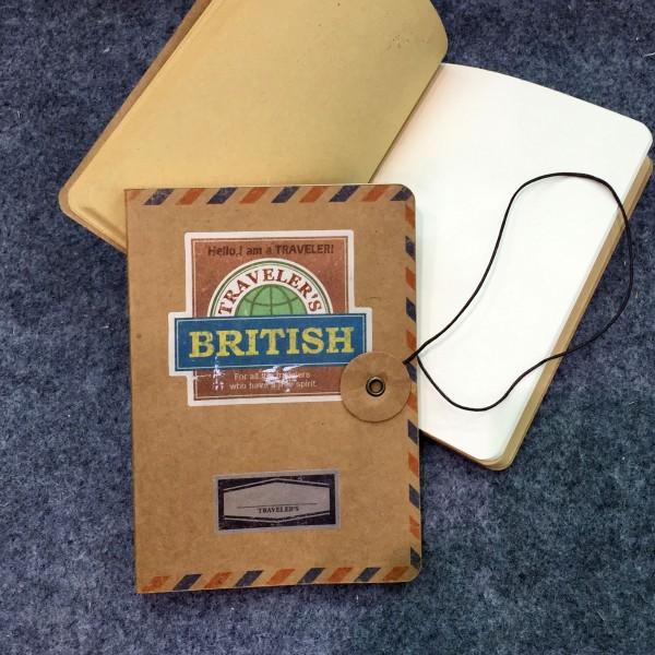 """Notizbuch """"British"""", 64 Seiten, B 10 cm, H 14 cm"""