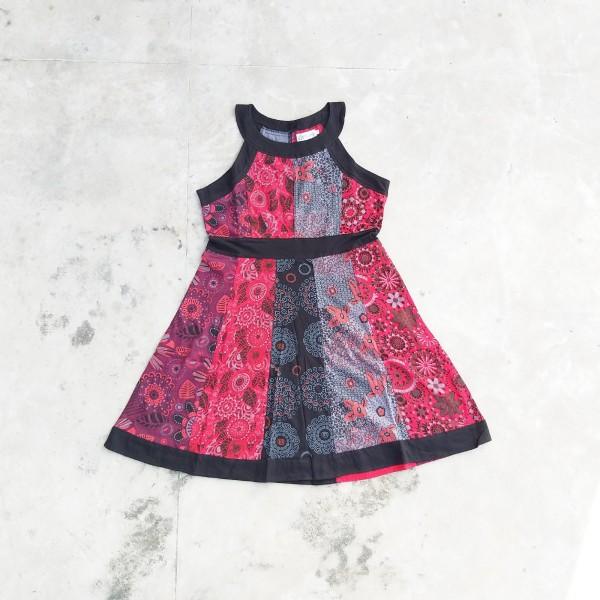 Kleid 'Estrel' M, schwarz, rot, bordeaux