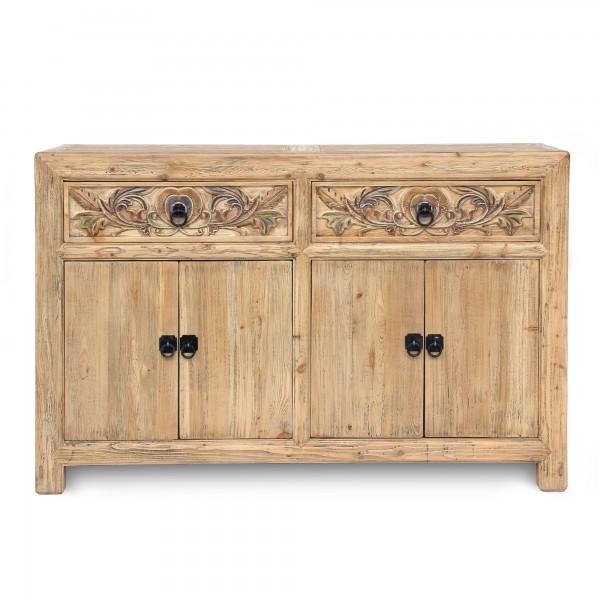 Sideboard 'Herolind', 2 Schubladen, 4 Türen, natur, T 45 cm, B 148 cm, H 95 cm