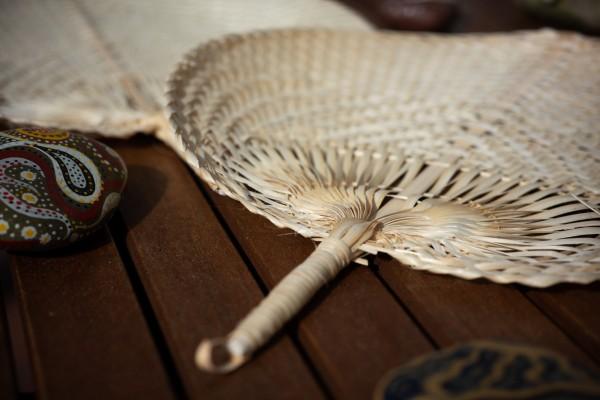 Fächer aus Bambus, natur, B 28 cm