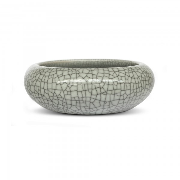 Keramikschale 'Craquelé', grau, Ø 18 cm, H 7 cm