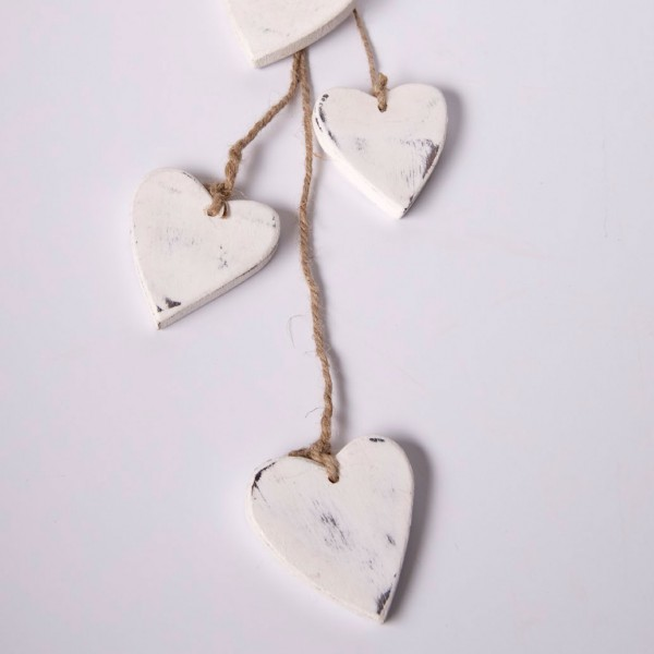 Herzen-Bundle, weiß