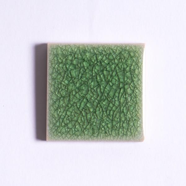 Fliese 'Craquele' pastell-grün, L 10 cm, B 10 cm