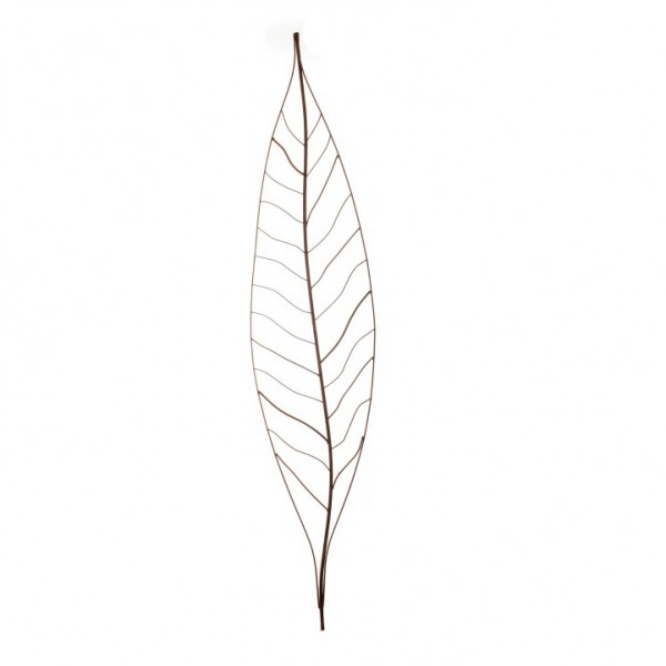 Gartenstecker 'Palmenblatt', groß, antik-rost, H 150 cm
