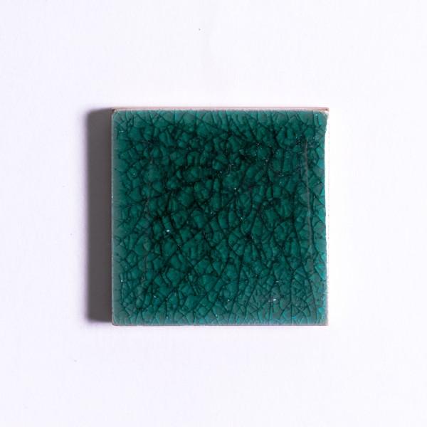 Fliese 'Craquele', dunkelgrün, L 5 cm, B 5 cm