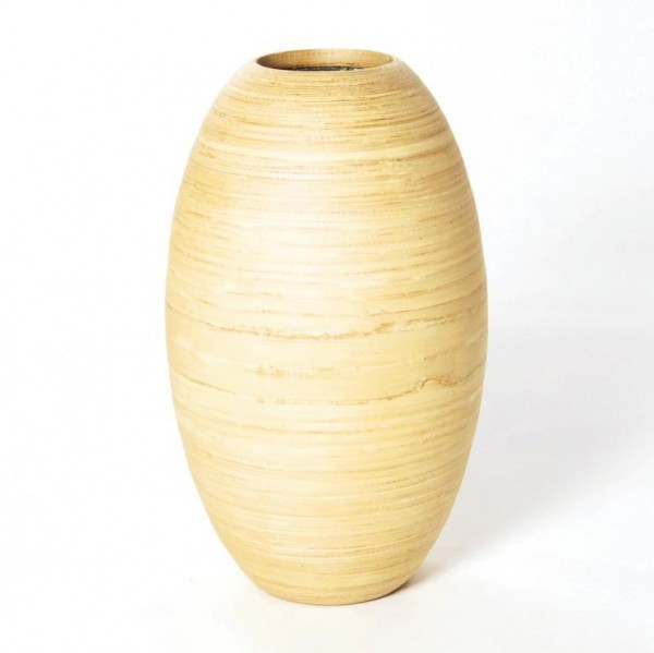Bambusvase, natur, H 42 cm, Ø 27 cm