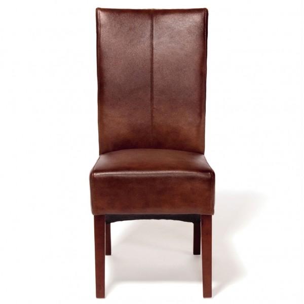 """Lederstuhl """"Beate"""", cognac, L 63 cm, B 45 cm, H 106 cm"""