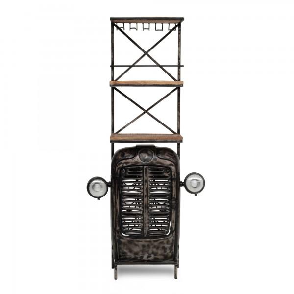 Traktor-Bar, vintage unlackiert, T 38 cm, B 85 cm, H 180 cm
