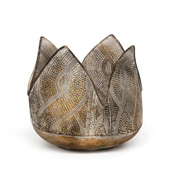 Windlicht 'Yuna', bronze, Ø 18,5 cm, H 17,5 cm