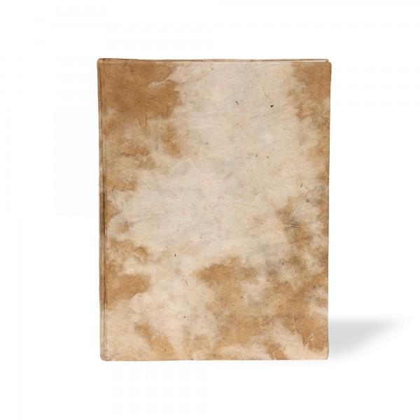Notizbuch Wolke, beige, T 15 cm, B 11 cm, H 1,5 cm