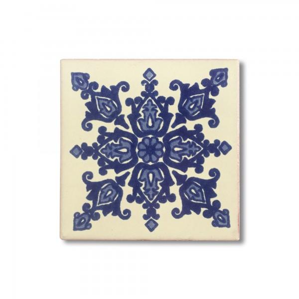 Kachel 'La Paz', blau, weiß, T 10 cm, B 10 cm, H 0,5 cm