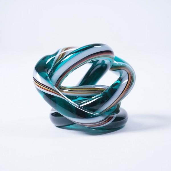 Glasknoten, multicolor, Ø 9 cm