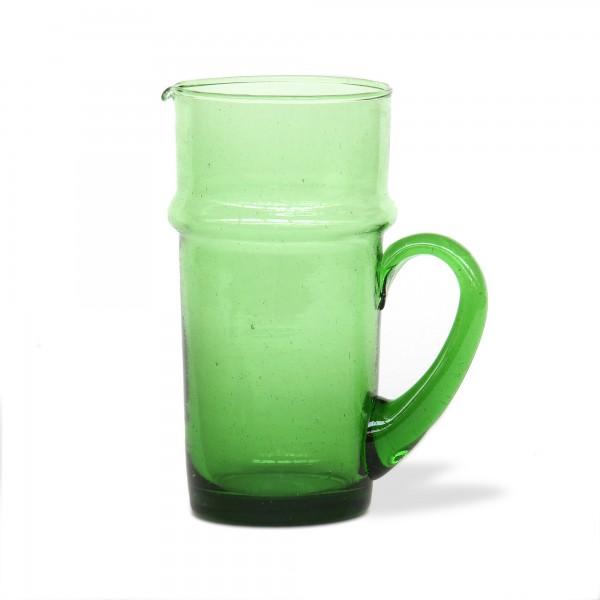 Glasreihe 'Beldi' Karaffe mit Griff, grün, Ø 10 cm, H 20 cm