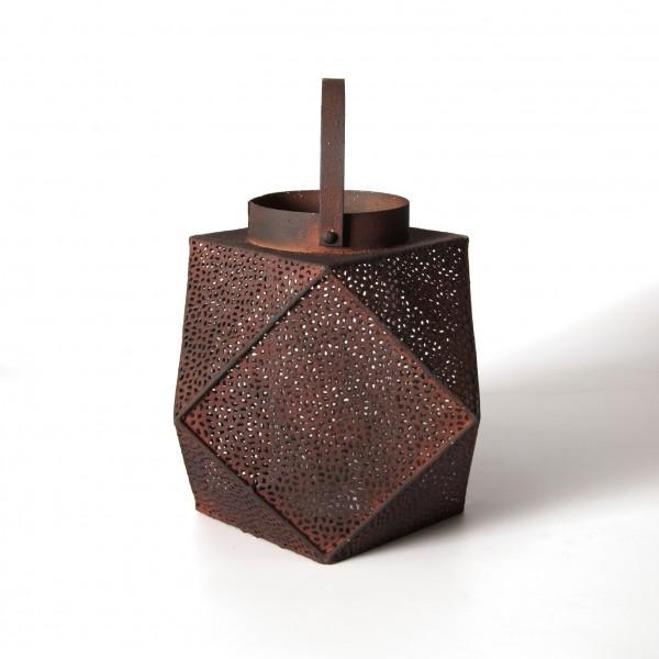 "Laterne ""Nowra"" aus Metall, L 20 cm, B 20 cm, H 24 cm"