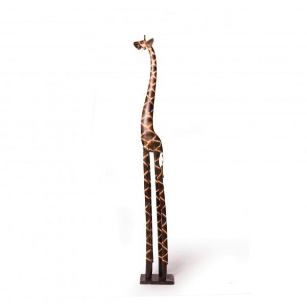 Deko-Giraffe, aus Albesiaholz, H 200 cm
