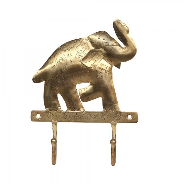 2er Wandhaken Elefant, T 18,5 cm, B 25 cm, H 5,5 cm