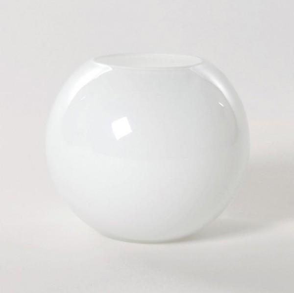 Kugelvase, weiß, H 12 cm, Ø 14 cm