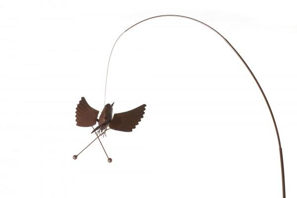 "Windpendler ""Krähe Werner"", rostbraun, L 31 cm, B 32 cm, H 160 cm"