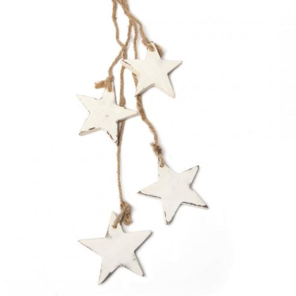 Sternen-Bundle, weiß, L 60 cm