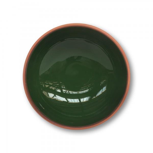 Schüssel Terrakotta, natur, grün, Ø 15 cm, H 5 cm